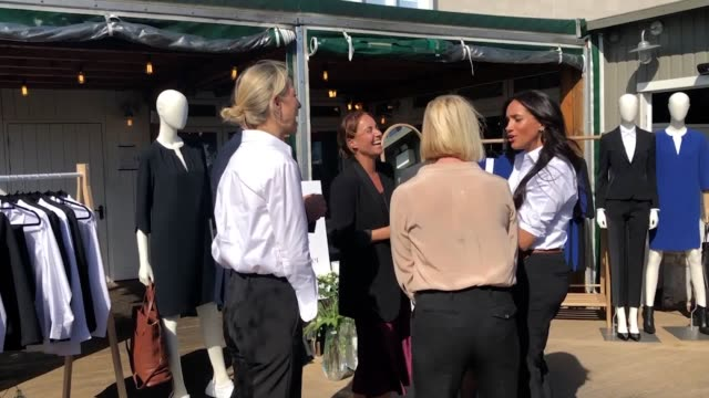 The Duchess of Sussex has carried out her first official public engagement since the birth of her son – launching a high street clothing range in aid...