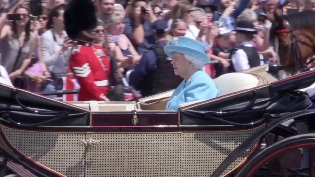 The Duchess of Sussex joins the royal family of the balcony of Buckingham Palace for the first time after Trooping the Colour