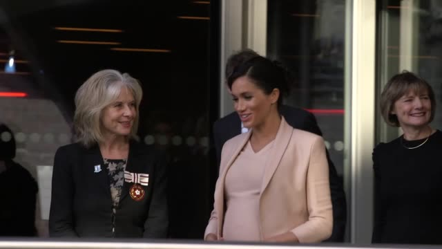 The Duchess of Sussex leaves after a visit to the National Theatre in London her first since becoming its patron