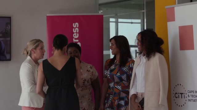 vídeos y material grabado en eventos de stock de the duchess of sussex met a dozen inspiring female entrepreneurs at an event in cape town today the former actress met several women who have set up... - meghan duchess of sussex