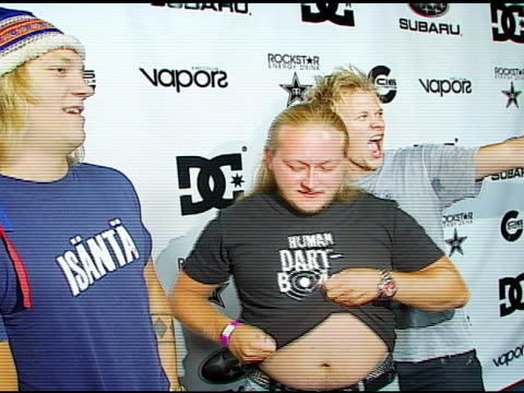 the dudesons at the subaru / dc shoes x games event at avalon in hollywood california on august 4 2006 - dc shoes stock videos & royalty-free footage
