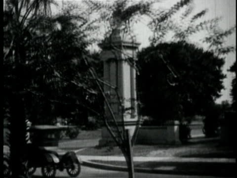 1929 b/w montage the duelling oaks city park / new orleans, louisiana - 1920 1929 stock videos and b-roll footage