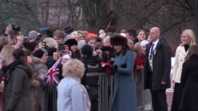 The Duke and Duchess are given a tour of the Princess Ingrid Alexander sculpture park with Queen Sonja of Norway Princess Ingrid Alexander Prince...