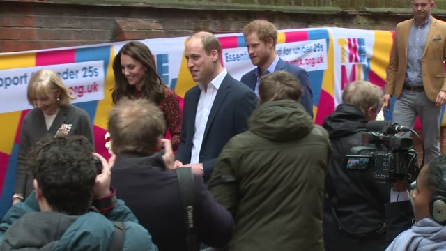 The Duke and Duchess of Cambridge and Prince Harry at Heads Together on December 19 2016 in London England