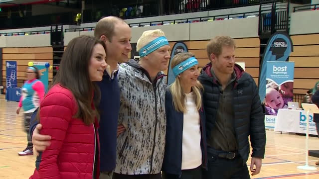 The Duke and Duchess of Cambridge and Prince Harry have taken each other on at a training day for runners in this year's London Marathon The royal...