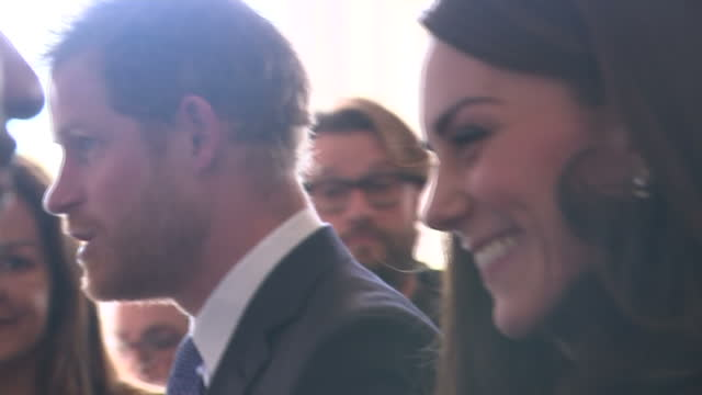 the duke and duchess of cambridge and prince harry outlined the next phase of heads together. heads together is a charity aiming to end the stigma... - phase image stock videos & royalty-free footage