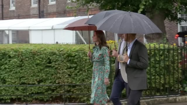 The Duke and Duchess of Cambridge and Prince Harry tour the White Garden at Kensington Palace on the 20th anniversary of Princess Diana's death The...