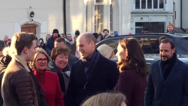 The Duke and Duchess of Cambridge arrive at Hartvig Nissen School in Oslo which was the location for the successful Norwegian television programme...