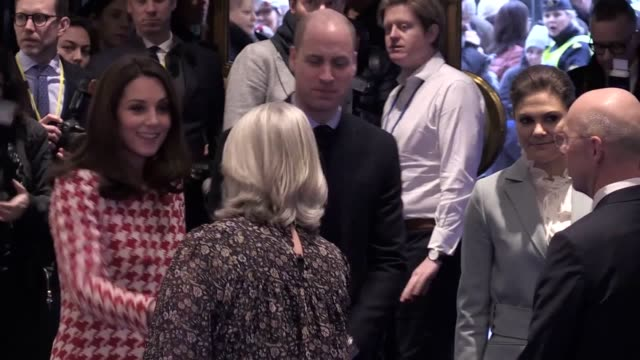 The Duke and Duchess of Cambridge arrive at NK Department Store with Crown princess Victoria and Prince Daniel They spoke to several designers and...