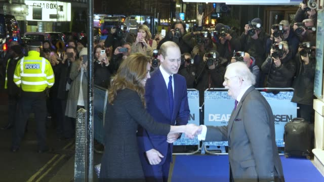 GBR: The Duke and Duchess of Cambridge attend a special performance of Dear Evan Hansen
