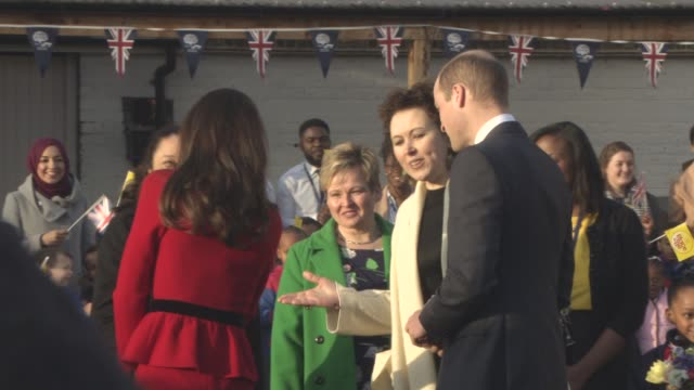 The Duke and Duchess of Cambridge attend the Place2BeBig Assembly with Heads Together for Children's Mental Health Week at Mitchell Brook Primary...