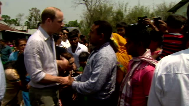 the duke and duchess of cambridge continue their royal tour of india with a visit to panbari village in assam province show prince william and... - 野生生物保護点の映像素材/bロール