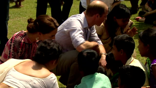 the duke and duchess of cambridge continued their royal tour of india with a visit to panbari village in assam province shows prince william and... - 野生生物保護点の映像素材/bロール