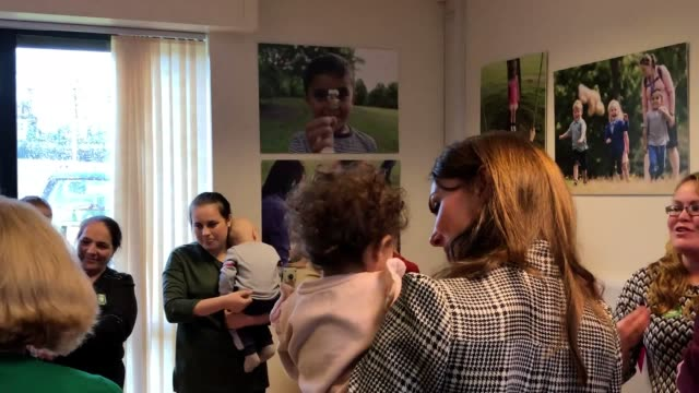the duke and duchess of cambridge got involved with a session of the older yet wiser project during a visit to bradford. the project supports... - peekaboo game stock videos & royalty-free footage