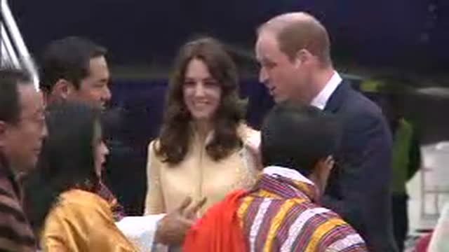 the duke and duchess of cambridge have arrived in the mountainous country of bhutan william and kate are staying with bhutan's king and queen in the... - thimphu stock videos & royalty-free footage