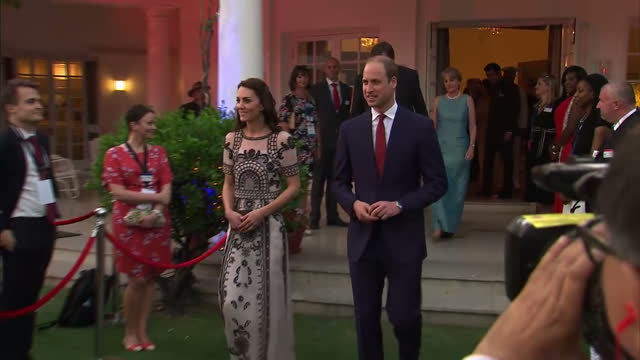 the duke and duchess of cambridge have been retracing the final steps of india's founding father mahtma gandhi on the latest leg of their royal tour... - duchess of cambridge stock videos and b-roll footage