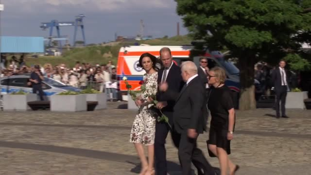 The Duke and Duchess of Cambridge have described their visit to a Nazi concentration camp as 'shattering' saying the site is a 'terrible reminder of...