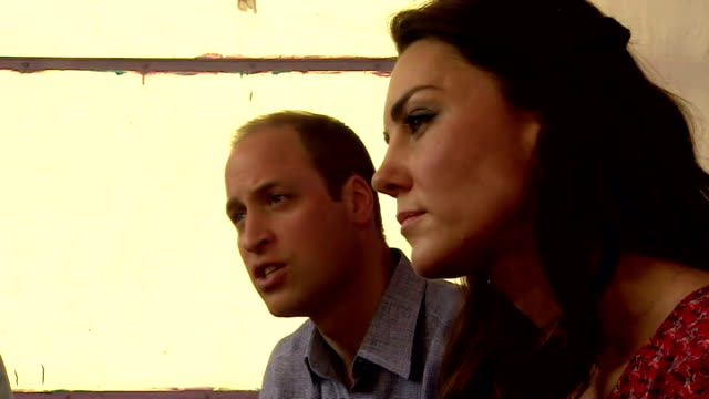 the duke and duchess of cambridge have visited a charity working with street children in india on the third day of their south asia tour catherine... - duchess of cambridge stock videos and b-roll footage