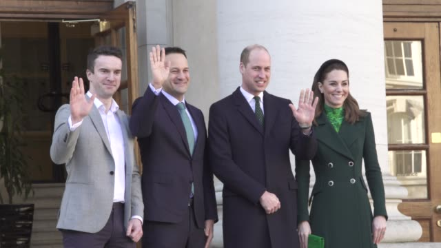 IRL: The Duke and Duchess of Cambridge visit Ireland- Official Meeting with Taoiseach of Ireland