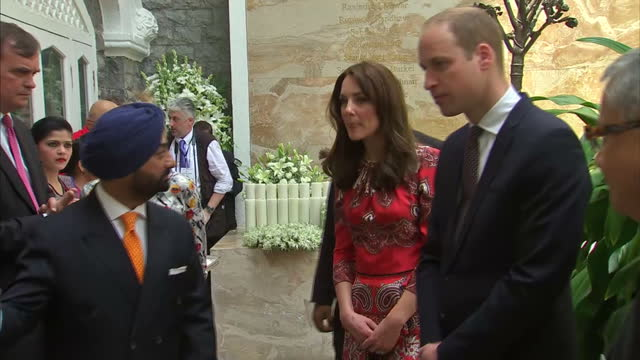 the duke and duchess of cambridge met survivors of 2008's mumbai terror attacks at the start of their india tour kate and william visited the... - duchess of cambridge stock videos and b-roll footage