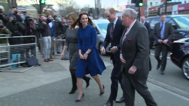 the duke and duchess of cambridge on january 11 2017 in london england - prinz william herzog von cambridge stock-videos und b-roll-filmmaterial