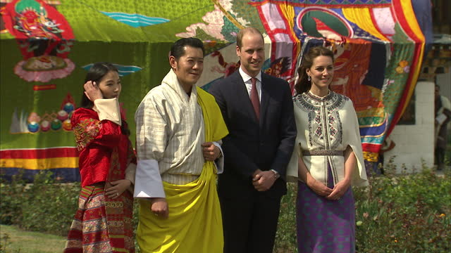 the duke and duchess of cambridge paid a visit to the remote himalayan kingdom of bhutan. the king and queen of the tiny himalayan nation held a... - bhutan stock videos & royalty-free footage