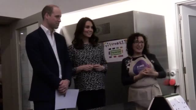 The Duke and Duchess of Cambridge see the preparations for the Commonwealth Big Lunch at St Luke's Community Centre in London