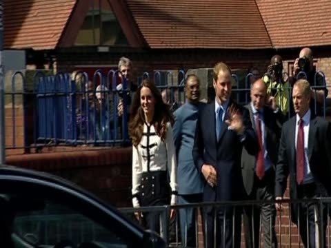 The Duke and Duchess of Cambridge visit Birmingham to meet local residents caught up in the riots of August 2011