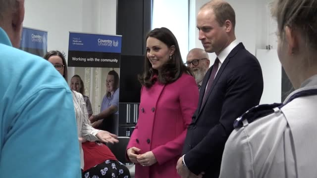 the duke and duchess of cambridge visit coventry university to open a £59 million training centre for nurses midwives and paramedics william and kate... - coventry stock videos & royalty-free footage