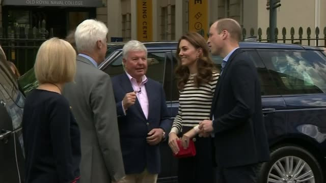 the duke and duchess of cambridge visit the old royal navy college england london greenwich old royal navy college ext prince william duke of... - royal navy college greenwich stock videos & royalty-free footage