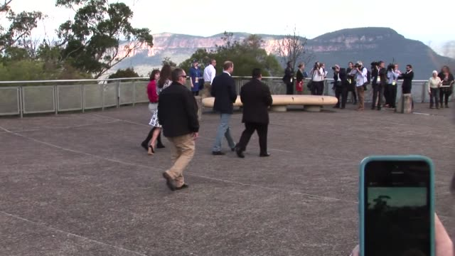 The Duke and Duchess of Cambridge visited the Blue Mountains west of Sydney on April 17 2014 in Sydney Australia The Duke and Duchess of Cambridge...