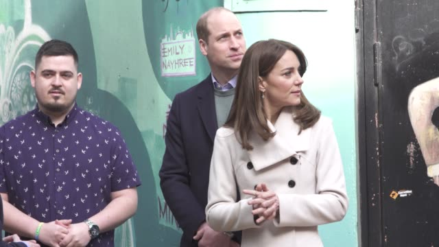 GBR: The Duke and Duchess of Cambridge visit Ireland- Visit to mental health charity Jigsaw