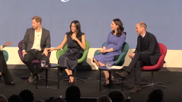 the duke and duchess of sussex are to set up their own new foundation after splitting from their joint charity with the duke and duchess of cambridge... - prince william stock videos & royalty-free footage
