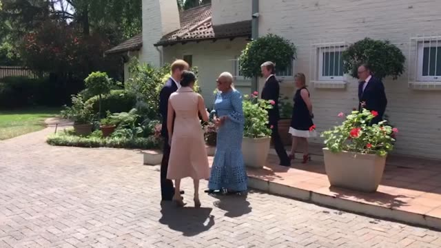 the duke and duchess of sussex meet graca machel widow of the late nelson mandela on the last day of their tour in africa they also met with local... - royal tour stock videos & royalty-free footage
