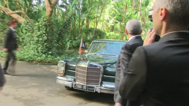 The Duke and Duchess of Sussex meet King Mohammed VI ****FLASH Rabat EXT Car arriving and Prince Harry Duke of Sussex and Meghan Duchess of Sussex...