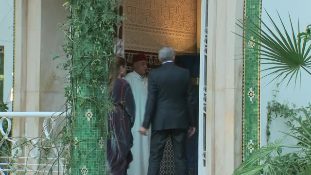 The Duke and Duchess of Sussex meet King Mohammed VI ****FLASH Rabat EXT Prince Harry Duke of Sussex and Meghan Duchess of Sussex from palace to car...