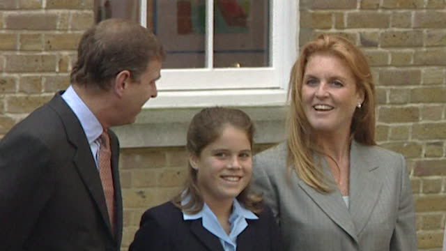 The Duke and Duchess of York visit Princess Eugenie on her first day at St George's School Windsor