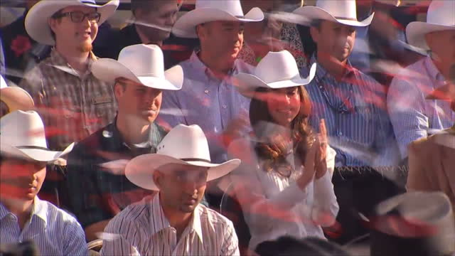 The Duke Duchess of Cambridge have wrapped up their tour of Canada with a visit to the Wild West Stampedes rodeos bull riding were all on the agenda...