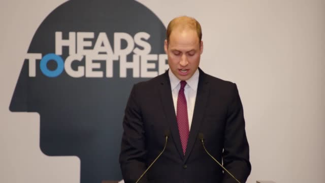 The Duke of Cambridge and Prince harry speak at the Heads Together event at St James's Palace on World Mental Health Day