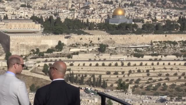 The Duke of Cambridge arrives at the Mount of Olives in Jerusalem William will pay his respects at the tomb of his greatgrandmother Princess Alice as...