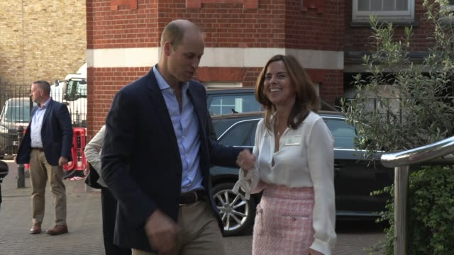 the duke of cambridge at royal marsden hospital on july 04, 2019 in sutton, greater london. - greater london video stock e b–roll