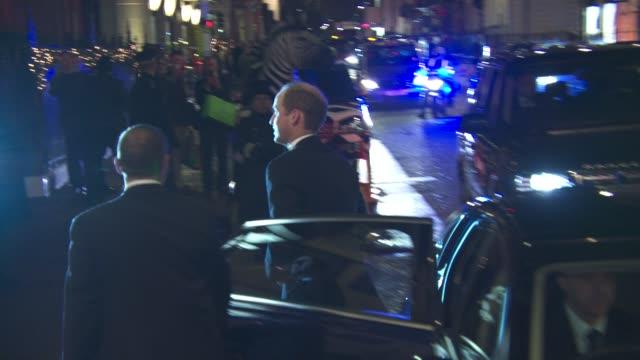 the duke of cambridge at the duke of cambridge will attend the tusk conservation awards claridge's at claridges hotel on november 24, 2015 in london,... - claridge's stock videos & royalty-free footage