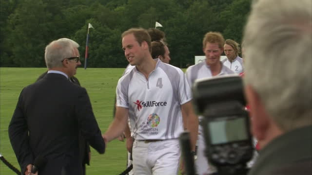 The Duke of Cambridge has taken some time out today from his daddy duties by playing a spot of polo with his brother Prince Harry It's the first time...