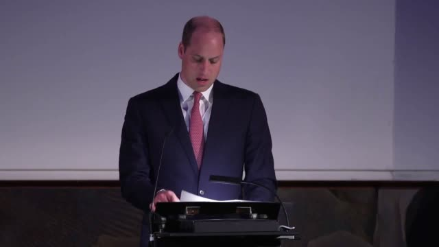 the duke of cambridge speaks at the first meeting of the united for wildlife joint taskforce at the royal geographical society in london. the meeting... - wildlife stock videos & royalty-free footage