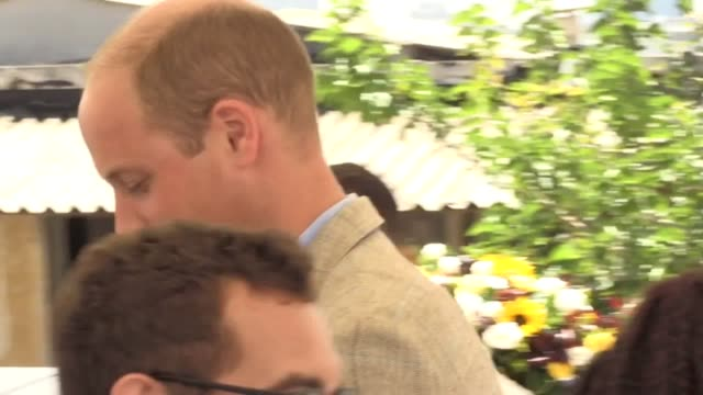 The Duke of Cambridge visits the renovated old town hall The Beit Ha'Ir Museum where he meets with young environmentalists to talk about recycling...