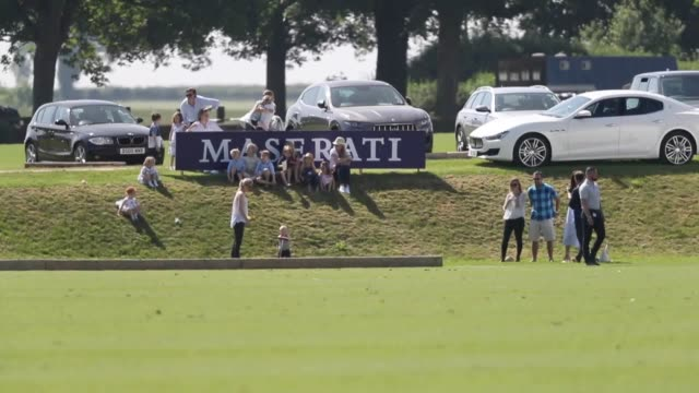 vídeos de stock e filmes b-roll de the duke of cambridge was taking part in the maserati royal charity polo trophy at beaufort polo club in tetbury, gloucestershire, - realeza