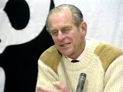 the duke of edinburgh talks about the relief that the braer oil tanker disaster wasn't as bad as it could have been - prince philip stock videos & royalty-free footage