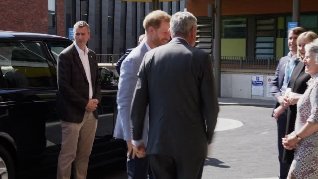 the duke of sussex arrives at sheffield children's hospital to officially open the new wing on july 25, 2019 in sheffield, england. - sheffield stock videos & royalty-free footage