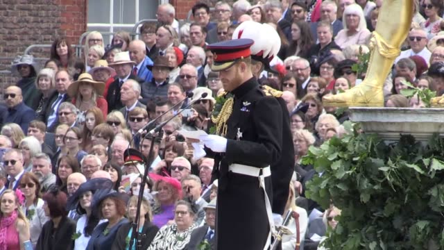 The Duke of Sussex attends during Founder's Day celebrations at the Royal Hospital Chelsea in west London The ceremony lands on the 75th anniversary...