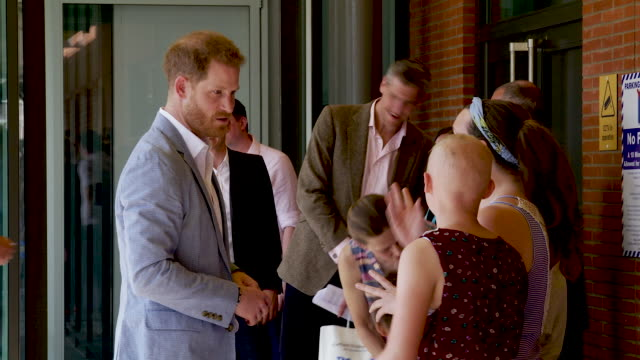 the duke of sussex meets fans on his departure from sheffield - sheffield stock videos & royalty-free footage